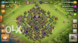 Clash of clan th 9 max for sell