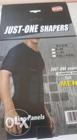 just shaper slim n lift vest for men- black colour