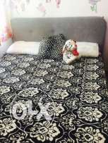 Home center Queen size bed .. 160*200 with orthopedic mattress