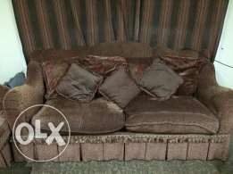 Urgent sale: 3 set sofa + free bed.