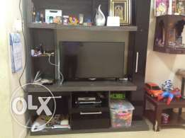 TV stand cum wall unit with shelves