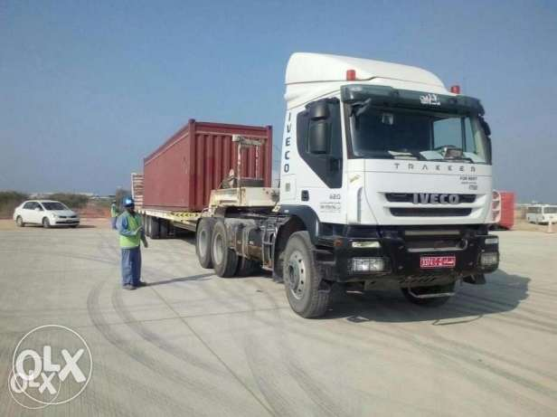 Lowbed trailer for rent heavy weight shifting PDO loading