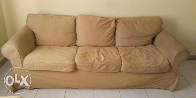 Sofa Urgent sale -set 1+1+3 seater with centre table price negotiable