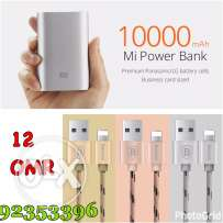 power bank + iPhone cable (sale) original products