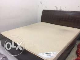 Wooden King size Cot with Medical mattress