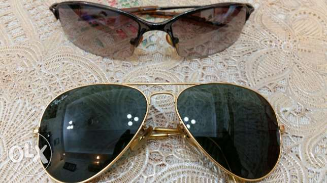 Rayban and georgea sun glasses with spare georgea glass for sale