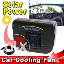auto solar power car cooling fan