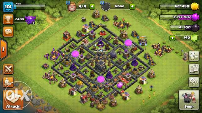 Clash of clan almost everything is max مسقط -  1