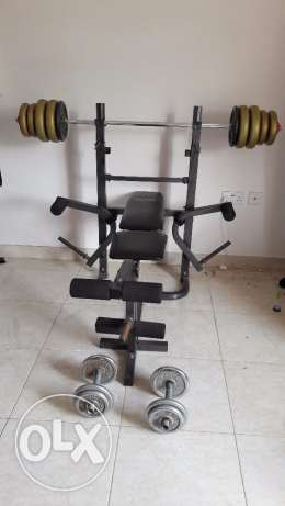 Bench with weights مطرح -  1
