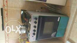 Newly used gas cooker and oven