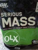 Whey + serious mass for sale