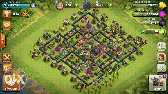 Clash of clan account for sale مسقط -  1
