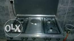 Gas cooker with electronic oven