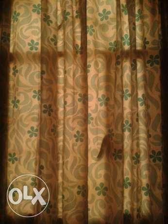 Un used new curtain for 1.5ro. Golden rails also available