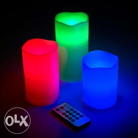 colour changing 3 pieces candle set with remote control- OFFER