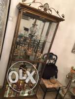 Glass antique Cabinate and dining table