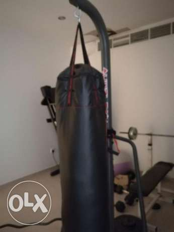 Punching bag on stand as good as new for sale