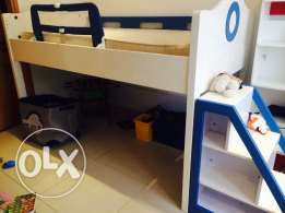 Bunk bed with new mattress