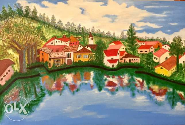 hand made painting 60by 90 cm