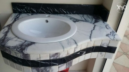 Wash basin in Layla white Marble turkey