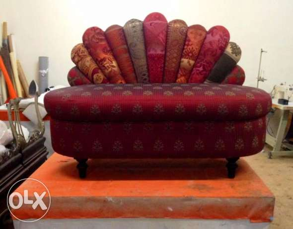 Two seater bedroom couch. unused. factory piece مسقط -  1