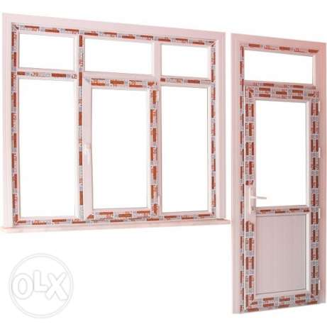 PVC windows, PVC doors, steel doors, wooden doors, shower, work is don مسقط -  3