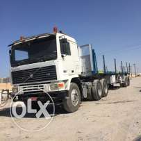 Volvo 6 wheel 94 model for sale with trailer