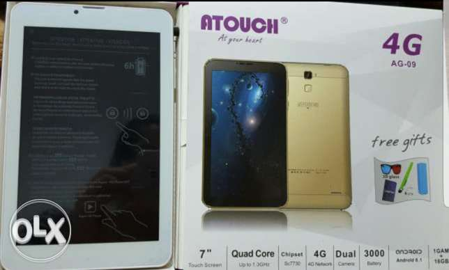 ATOUCH (4G) TABLET with PEN (Brand New)