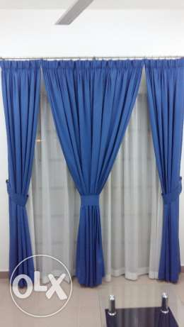 Almost New Curtains with Lining & Net Curtains مسقط -  3