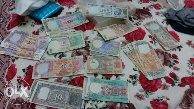 Indian 22 notes and 12 coins مسقط -  4