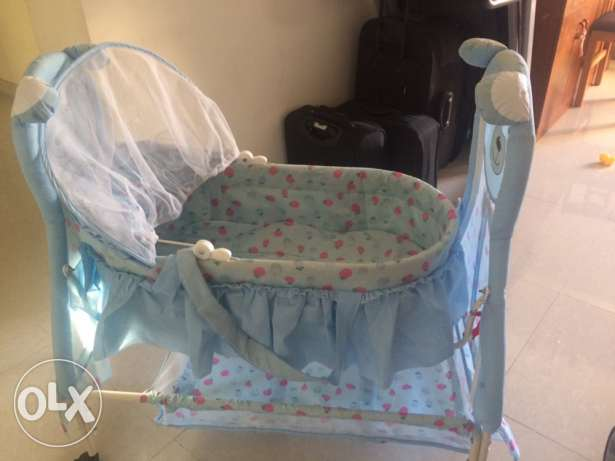 new baby cradle for sale,only one month used السيب -  3