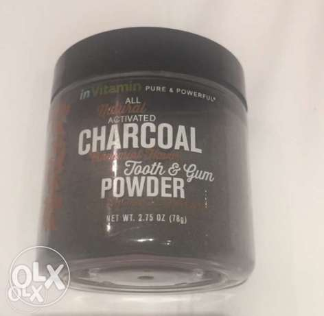 Natural tooth and gum whitening powder