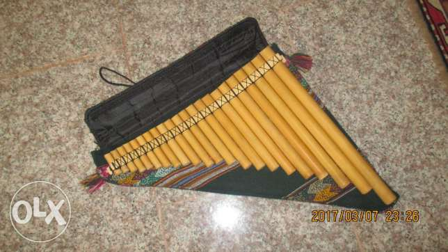 peruian pan flute with case