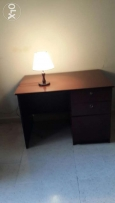 Solid wood study table with free lamp