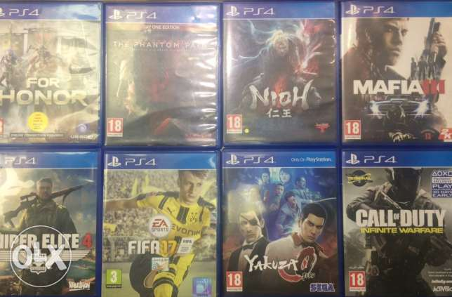 Ps4 used games 8 to 15 R.O for game