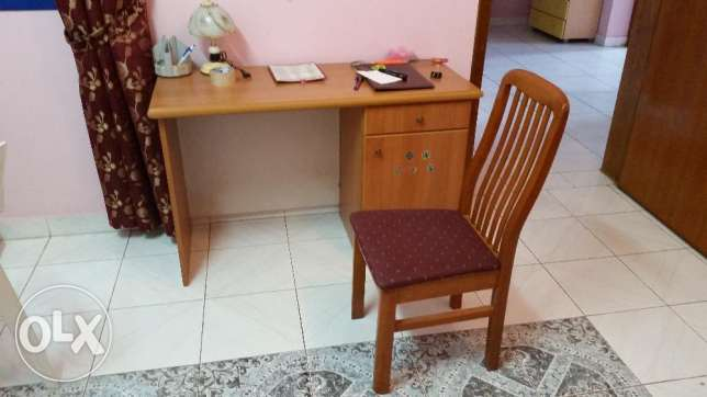 Solid wood Study table and chair