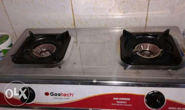 Gas stove with gas cylinder