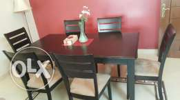 Dining table and chairs - Clearing off sale