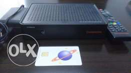 DISH TV Receiver, Remote, SIM (Oman Charge) and DISH