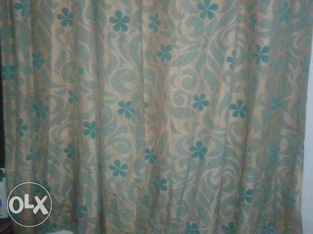 Blue, golden and black colour curtain for sale