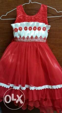 red party dress for children- 50% DISCOUNT