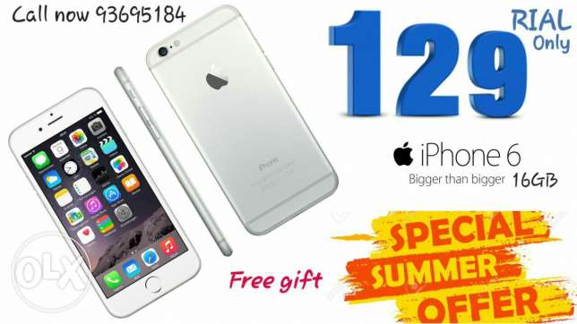Iphone 6 only129 rial ايفون ٦ فقط١٢٩ريال