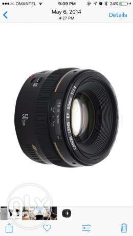 canon 50mm f1.4 for sell