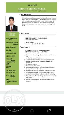 Looking for job sales & marketing