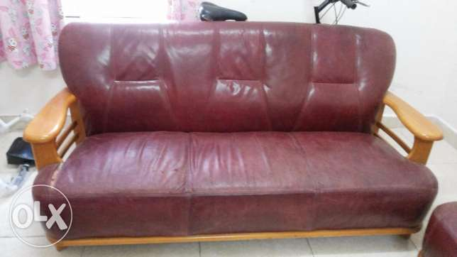 Sofa Set, Leather , Red color