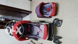 Kids Stroller with car seat at a very good condition.