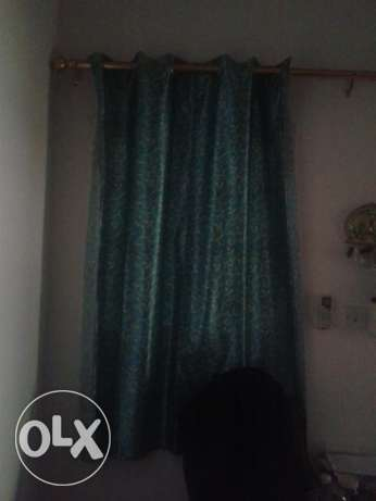 Curtains for 1.5 ro nd golden rails available