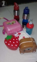 Lunch boxes water bottles