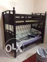 in sohar .double single bed with mattress