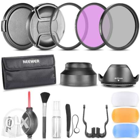 49MM Pro Accessory Kit for Canon,Nikon and Other DSLR Camera Lenses